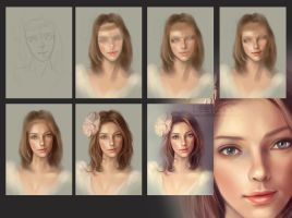 Portrait_step by step by leejun35