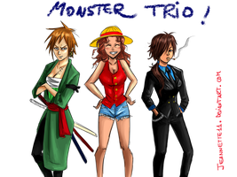 Our Monster trio COLORED by Jeannette11