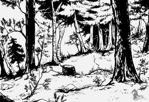 Ink Forest by Aminirus
