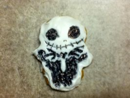 Jack Skellington Cookie by edwardscissorhands33