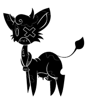 Shadow cat:: Cow by Thespiderinthenebula