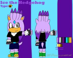 Ice the hedgehog by Miles-The-Sniper