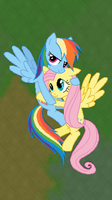 MC Rainbow Dash and Fluttershy by xPesifeindx