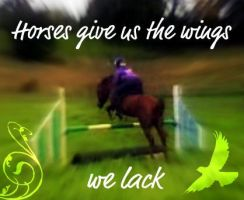 Horse give us the wings we lack by LadyNeigh