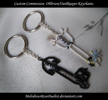 Custom Commission Keychains by MelodiousRoseDuelist