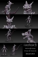 Mewtwo by railrunnermiranda