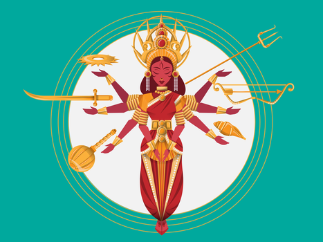 Goddess Durga by scribbletalk