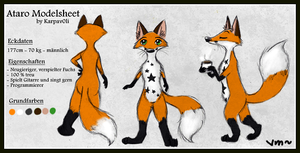 Modelsheet of Ataro by karpfinchen