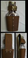 Leather Flask Holster by CaelynTek