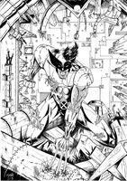 Wolverine black and white by Rexbegonia