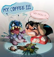 Lilo and Stitch : The Fatal accident by Dragibuz