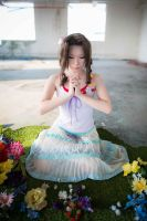 A white prayer - Aerith Gainsborough by asdcvbtuym