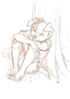 sketch - Sam under a tree by oomizuao