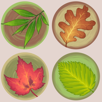 Leaf buttons by ClefdeSoll
