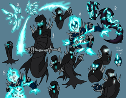 the Grim Reaper - with his 5 forms by Finjix