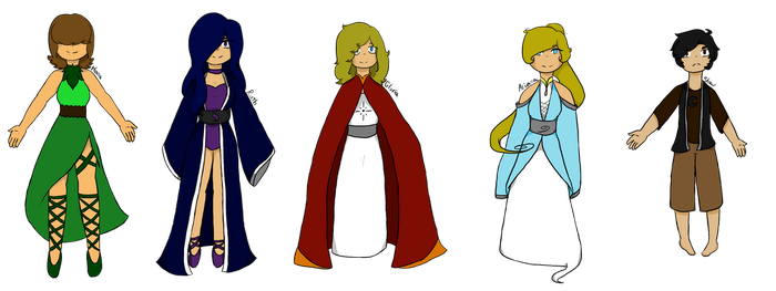 The new gods (redesigned) by 3dsgirl577