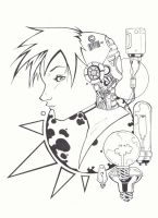 Cyborg Girl Ink by KidNotorious