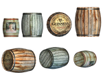 Barrels PNG Stock by Roys-Art