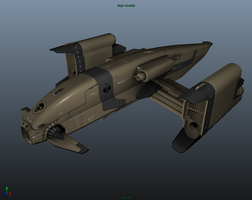 Spaceship Game Modell UDK 2 by Artificialproduction