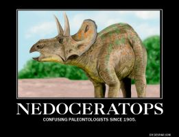 Nedoceratops Demotivational Poster by Haxorus54