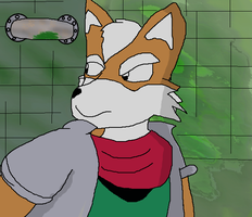 Fox mccloud in a sewer by LukeTheeMewtwo