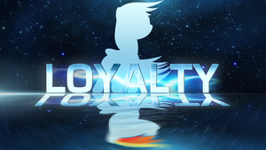 Rainbow Dash Loyalty Wallpaper by SoundOfTheAviators