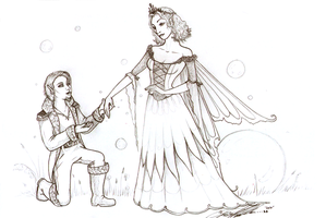 Fairy Queen and Elven Prince by moonfeather