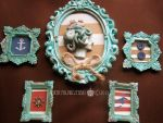 Vintage-Style Nautical Framed Cameo and Magnets by Jsaren