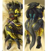 Anubis cushion (Personal merchandise) by link2004