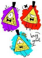 Bill doodles by baconpandas
