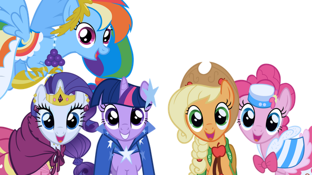 Mane 5 of 6 at the Gala by WakkaEx