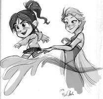 Disney-Frozen Wreck-it-Ralph Vanellope ski by ChiehChen