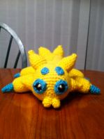 Joltik crochet plush by Ookamichan423