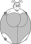 Spherical Bunnygirl Template by Dimensional-Expander