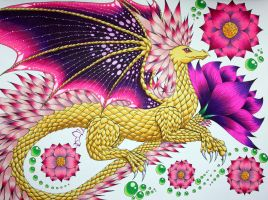 Lotus Dragon by greenglade88