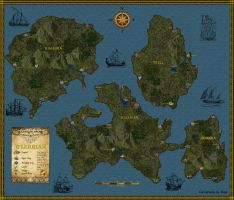 B'lerrian, a Map of the Islands by Bogie-DJ