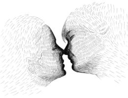The Kiss by Bashir-Sultani