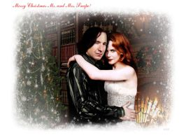 Mr. and Mrs. Snape by aznat