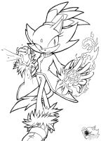 Blaze the Cat - Line Art by SonicGirlGamer71551