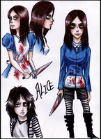 Alice Doodles by Cageyshick05