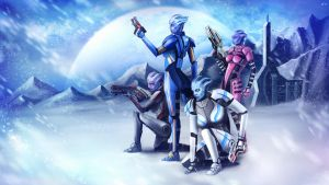 Mass Effect: Asari Spec Ops Squad by ZingerNax
