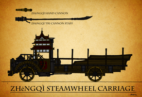 Steamwheel Carriage Arsenal by TenebraesRising