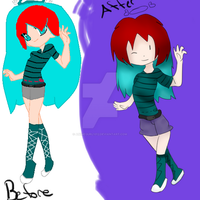 Before and After, Base edition by AnimeGurl1012