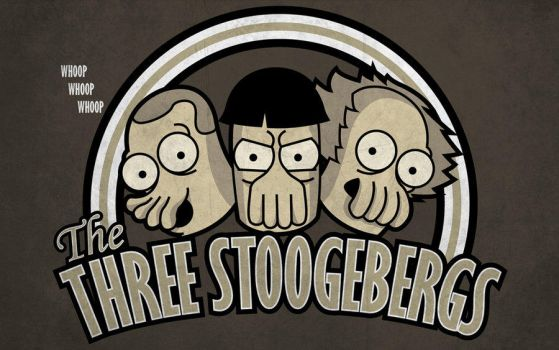 The Three Stoogebergs T-shirt by alsnow