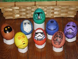 Star Wars Easter 2009 Eggs by bluehentrooper