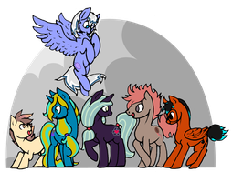Group Shot [COMMISSION] by spideride