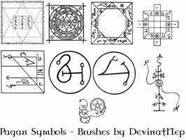 Pagan Symbols Brushes 8.0 by DeviantNep