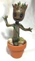Baby Groot Sculpt by CadmiumCrab
