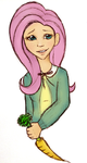 Humanised Fluttershy by Oak23