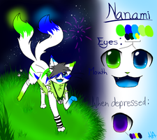 Nanami reference sheet by Nanithekitty